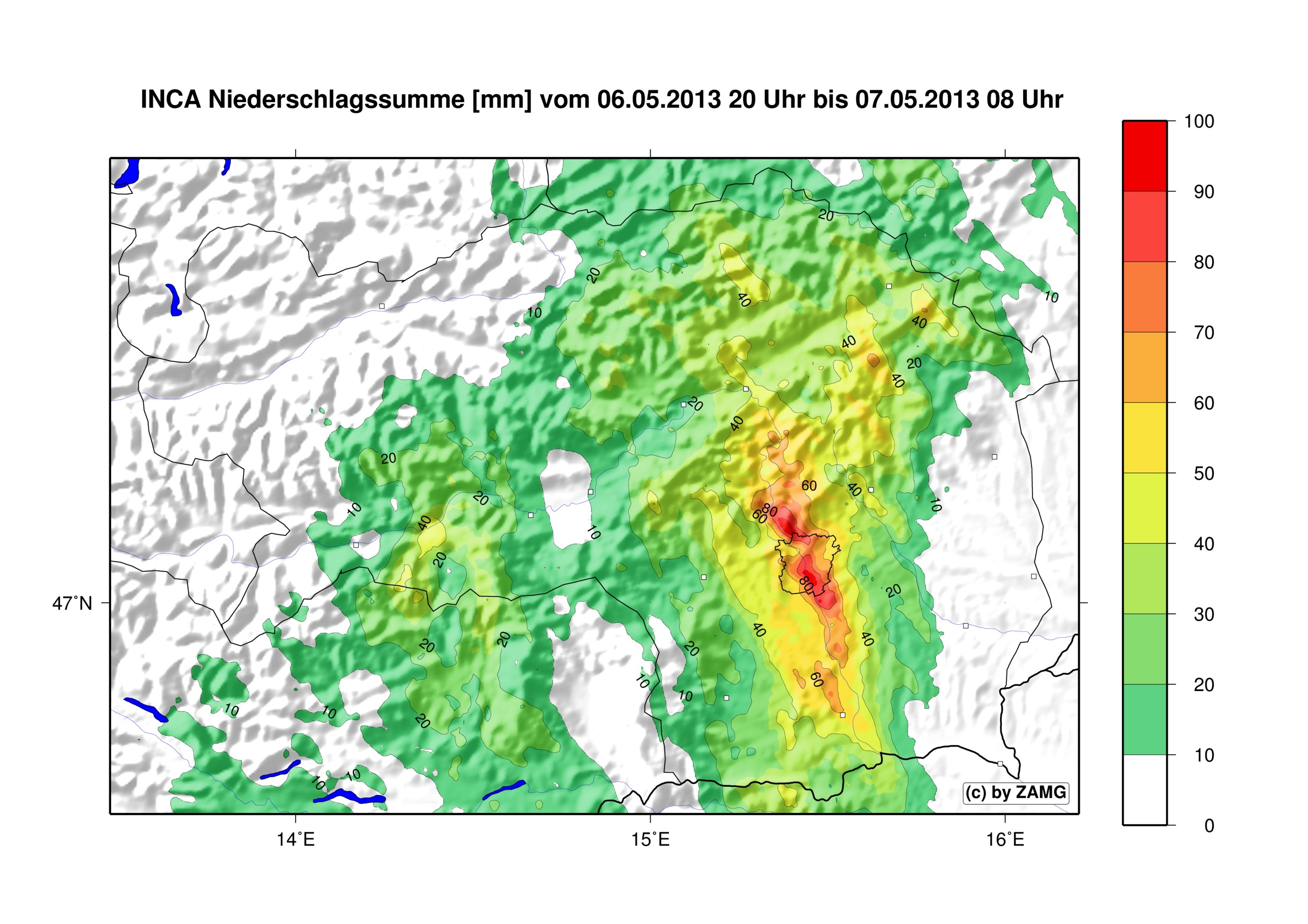 Unwetter in der Steiermark: Niederschlagsrekord in Graz