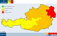 Weiterhin extreme Hitze in der Osthälfte Österreichs