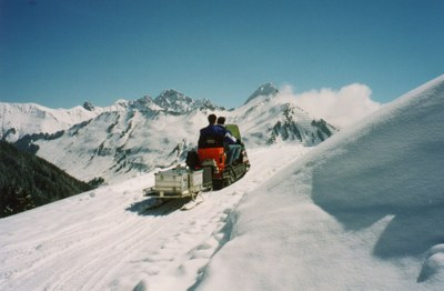 On the way to station DAVA in Vorarlberg © ZAMG Geophysics Lenhardt