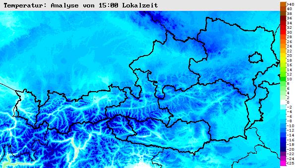Wetteranalyse der letzten 24 h